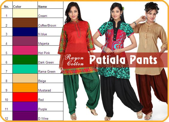 Rayon Patiala Leggings