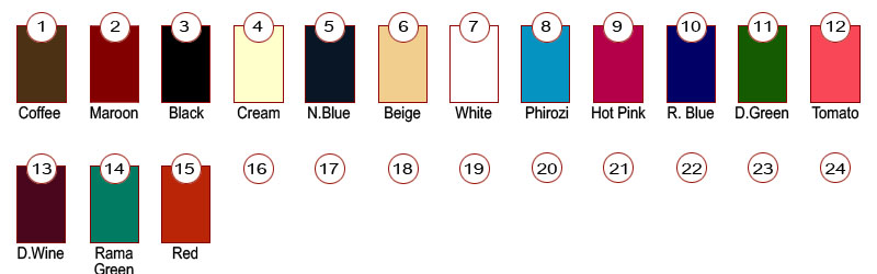 Ruby leggings color chart