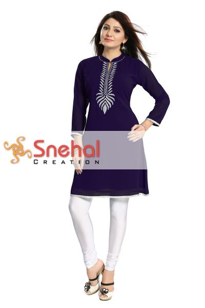 The Beaded Tunic create the new style statement in Blue Color