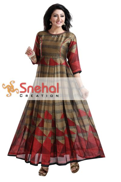 DESIGNER LONG FLAIRED KURTI