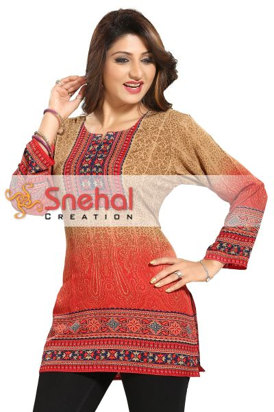 CASUAL PRINTED LADIES TUNIC