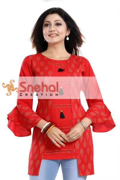 DESIGNER SHORT RED TUNIC