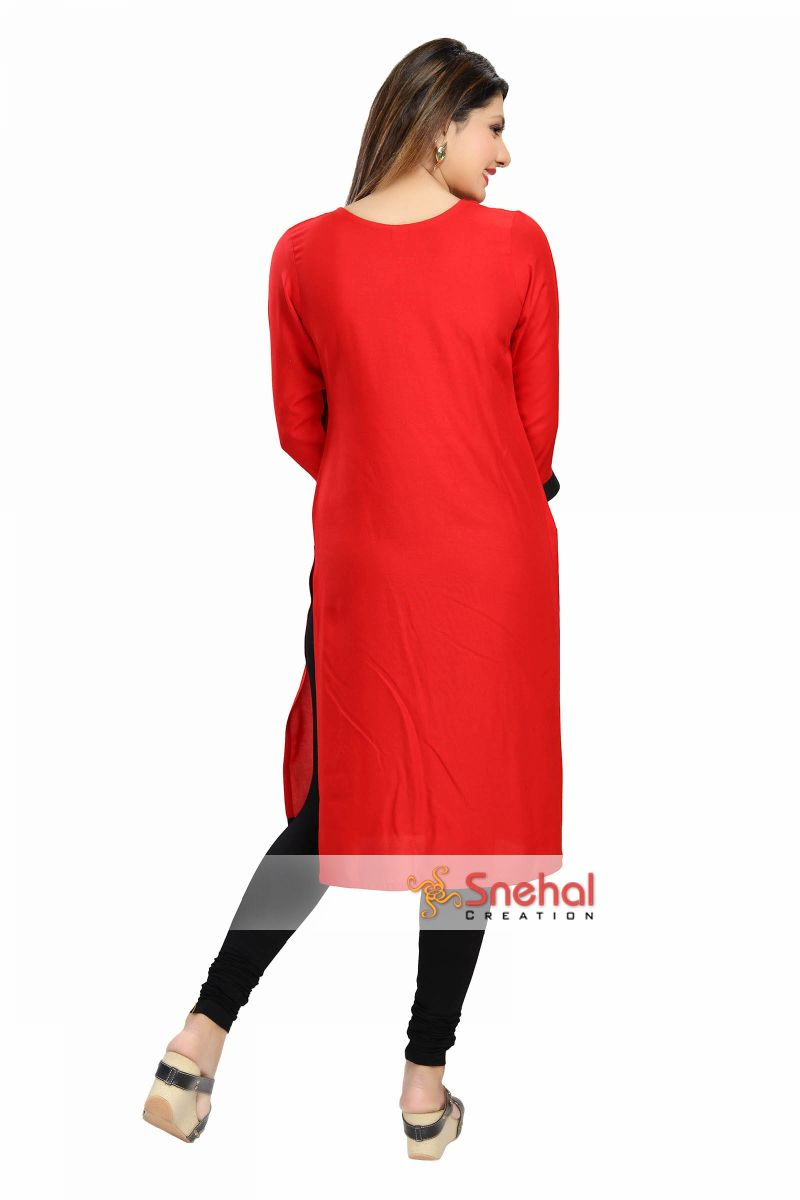 Beauty Redefined Maybelline Color Show Nail Polish: Beauty Redefined Red And Black Rayon Cotton Tunic With